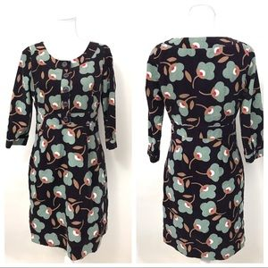 Boden Corduroy Dress Lined 3/4 Sleeves US 6R UK10R